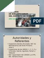 Plenaria  de bibliotecarios. Moreno 2015