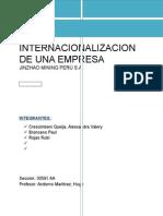 La Internacionalización de Una Empresa