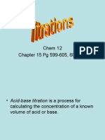 acid base titration and calculations