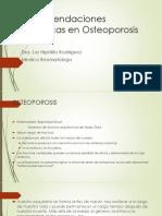 1- Recomendaciones Dieteticas en Osteoporosis