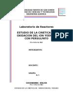 Pre-Informe 2 Oxidacion Del Ion Yoduro Con Persulfato