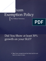 final exam exemption policy