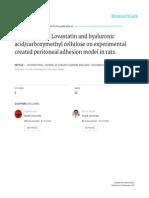 Comparison of Lovastatin and Hyaluronik Acid