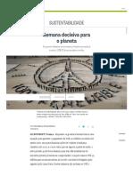 Semana Decisiva Para o Planeta - Jornal O Globo