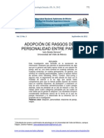 Artículo - Adopción de Rasgos de La Personalidad Entre Parejas