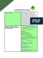 environmentally friendly lesson plan