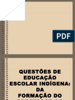 _questões de Educação Escolar Indígena