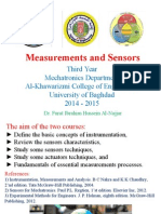 Measurements and Sensors - CH1 Introduction