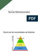 Teorias Motivacionales