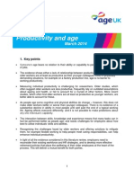 Age and Productivity Briefing (March 2014)