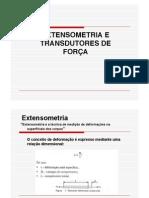 EXTENSOMETRIA E TRANSDUTORES DE FORÇA