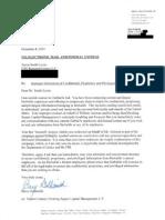 Letter to OTG