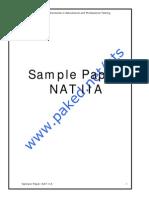 Sample Paper NAT IIA