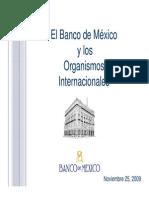 El Banco de Mexico y Los Organismos Internacionales