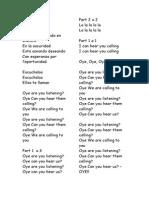 Choir Lyrics Christmas