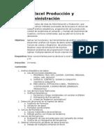 Excel Produccion y Administracion - Contenido
