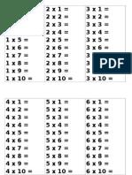 Juego Tablas Multiplicar