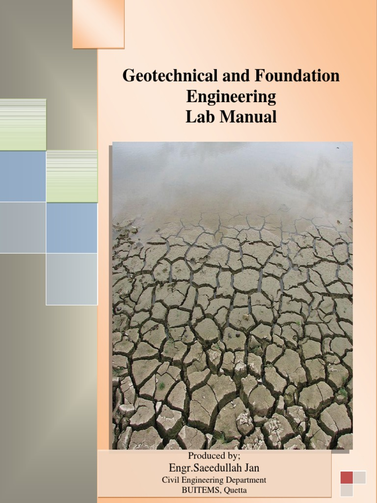 Geotechnical Laboratory Manual-II - Copy | Geotechnical Engineering | Soil  Mechanics