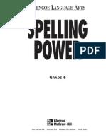 6th Grade Spelling Power Workbook
