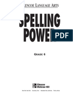 6th Grade Spelling Power Workbook