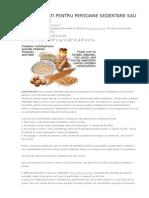 Carbohidrati Pentru Persoane Sedentare Sau Usor Active