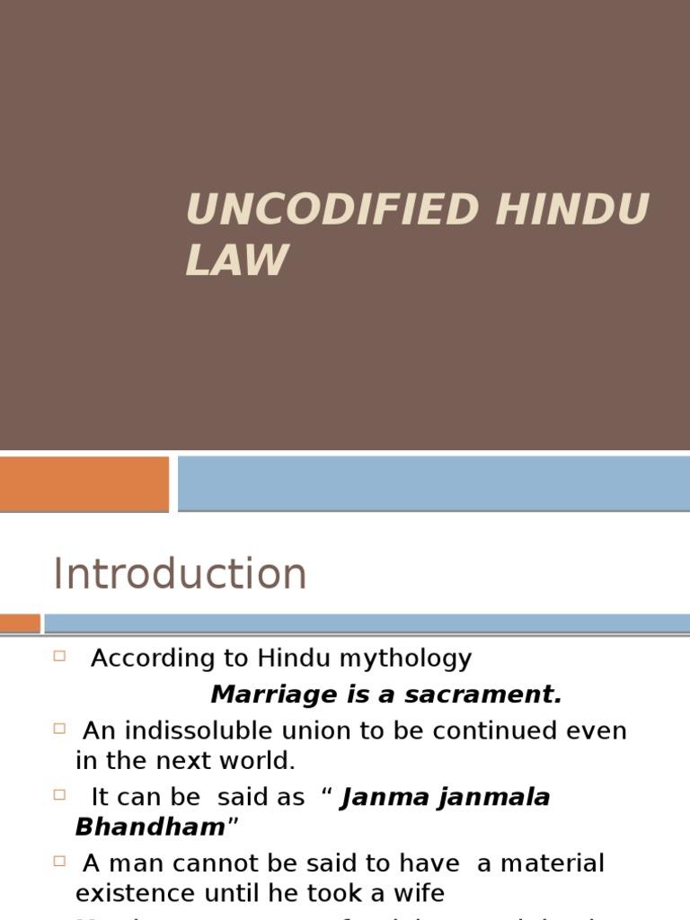 who is hindu according to hindu law