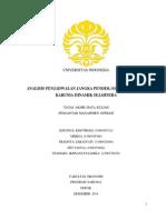 Analisis Penjadwalan Jangka Pendek (Scheduling)