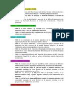 Índice de temas en Oposiciones 2016- Pedagogía Terapéutica