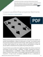 6 Pasos Para Planificar Proyectos Fácilmente _ Jerónimo Sánchez _ Consultor Artesano en Efectividad Centrada en Las Personas