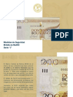 Nuevo corte de billete de Bs200