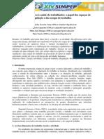 Prevenção de agravos à saúde do trabalhador - o papel dos espaços de regulação e das cargas de trabalho