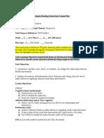 portfolio - reading instruction lesson plan