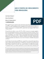 Crescto Prosutividade Agrícola Brasil