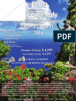 Trip to Italy 2016 Itinerary