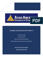 Strategic Communications Plan 2016-17 for the Asian American Chamber of Commerce