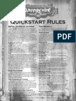 D&D 3rd Ed. - Iron Kingdoms - WarMachine QuickStart Rules
