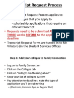 transcript request process