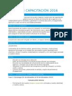 Estrategia y Plan de Capacitación 2016