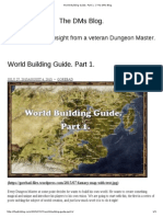 World Building Guide. Part 1