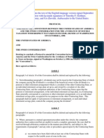 August 2009 Protocol between Switzerland and U.S. for Avoidance of Double Taxation