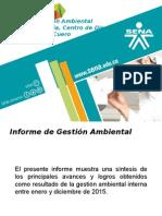 Informe Gestión Ambiental 2015