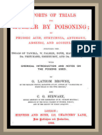 Reports of Trials for Murder by Poisoning; By G. Lathom Browne and C. G. Stewart