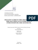 Bolsas de Valores en Chile Descripción Del Mercado e Implicancias Teóricas de La