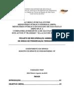 Projeto Recuperacao Ambiental Asa Branca APP - MP-CESP- 2015