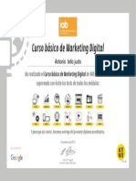 Antonio Tello Justo. Certificado Curso de Marketing Digital IAB Google Spain