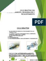 Ciclo Brayton Con Interenfriamiento, Regeneración y Recalentamiento