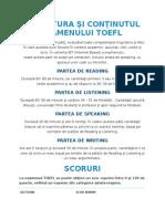 Structura Şi Conţinutul Examenului TOEFL
