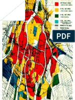 Hiroshima Firestorm Areas Map From US Strategic Bombing Survey Pacific Theatre Report 92 Volume 2