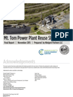 Mount Tom Power Plant Reuse Study