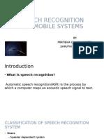 Speech Recognition Presentation